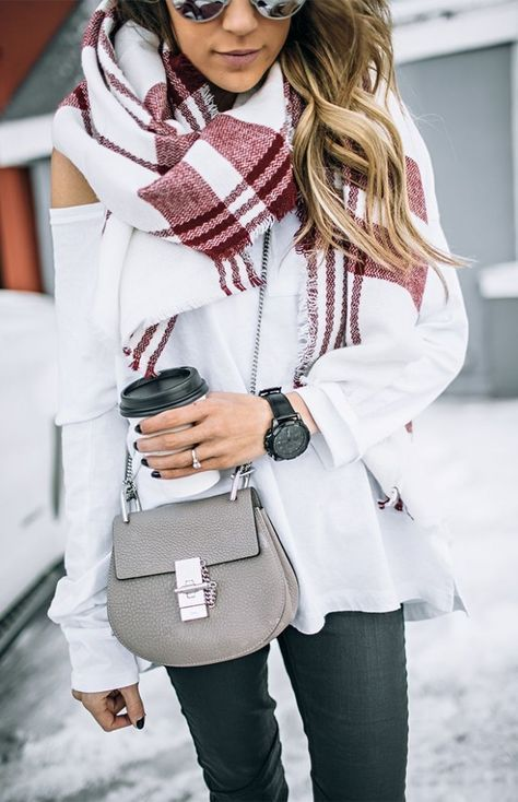 maroon scarf