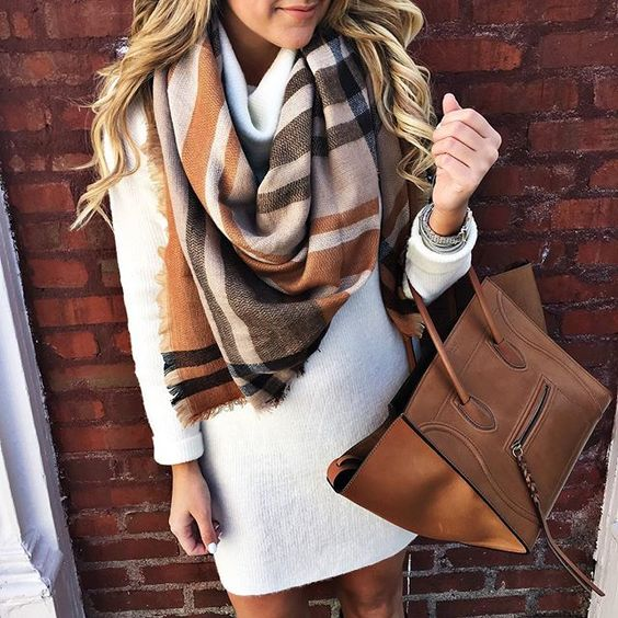 yellow black gray scarf