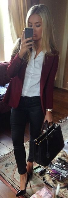 Omgoutfitideas.com, maroon blazer, maroon jacket, outfit
