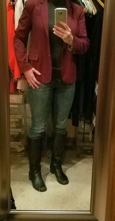 Maroon blazer, Jcrew, work wear