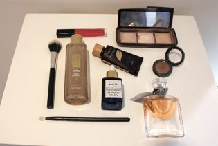 beauty products, Lancome, Luxie brush, Tarte, Hourglass, Estee Lauder