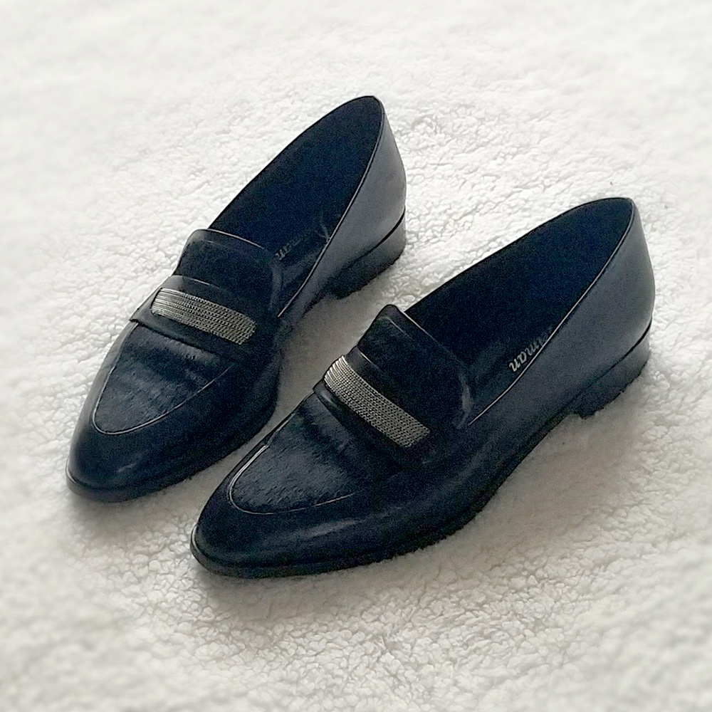 pointed toe loafer, black loafer, loafer