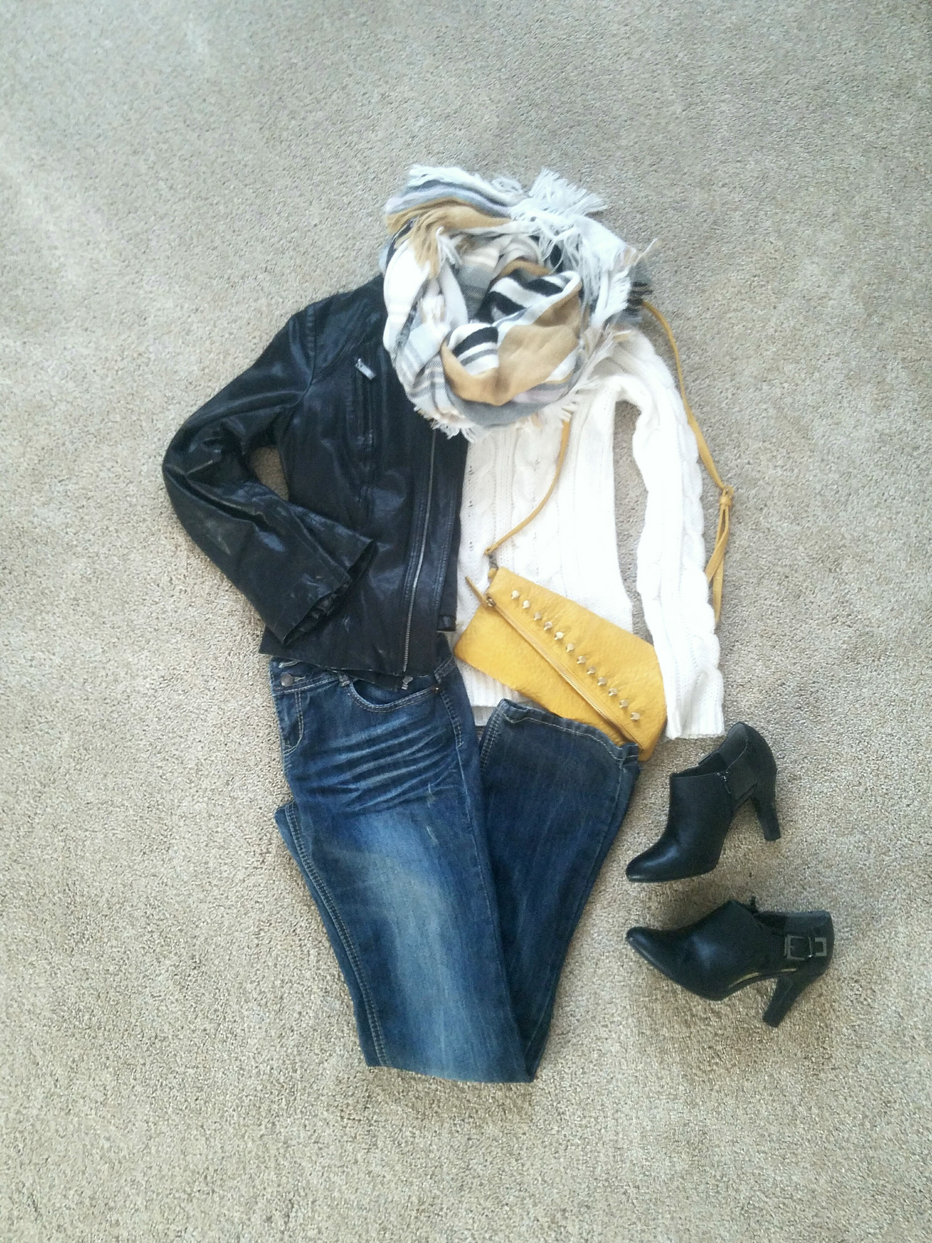 flat lay of outfit